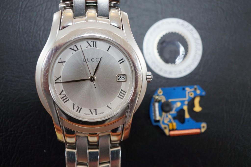 No.294 GUCCI(グッチ)クォーツ 腕時計を修理しました