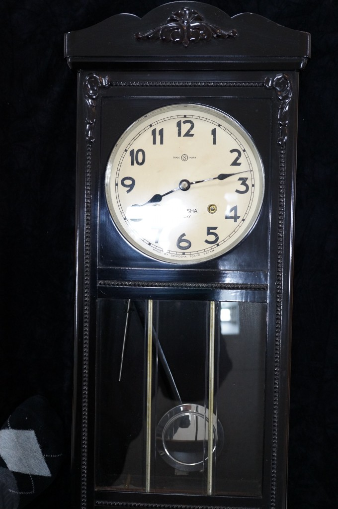 No.327  アンティーク SEIKOSHA 柱時計を修理しました