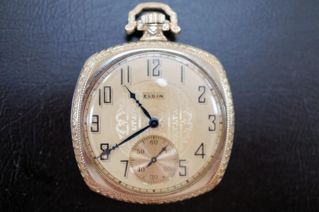 No.336  アンティーク ELGIN 懐中時計を修理しました