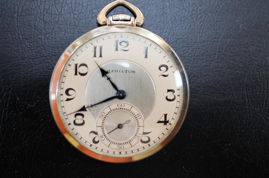 No.337  アンティーク HAMILTON 懐中時計を修理しました