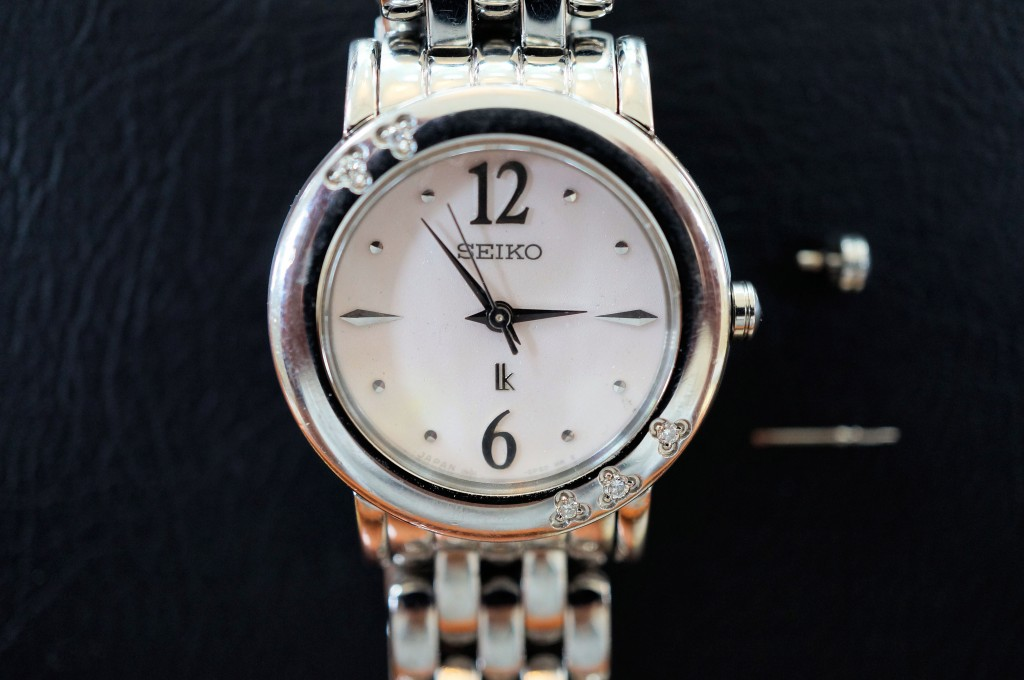 No.363  SEIKO LUKIA(セイコールキア) クォーツ腕時計を修理しました
