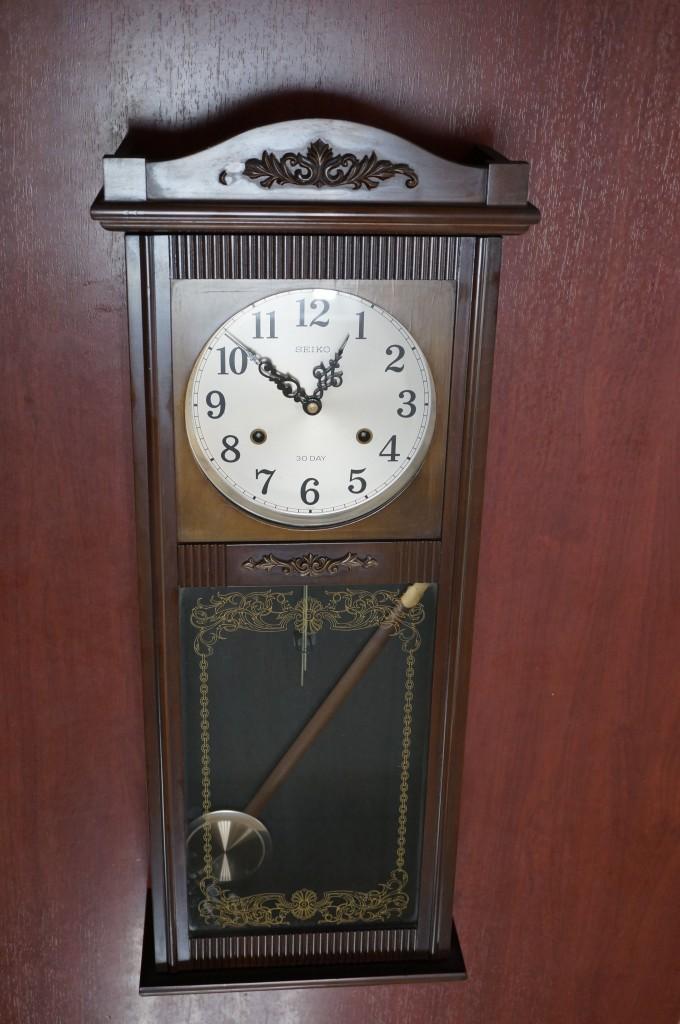 No.402  アンテイーク SEIKOゼンマイ式掛け時計を修理しました