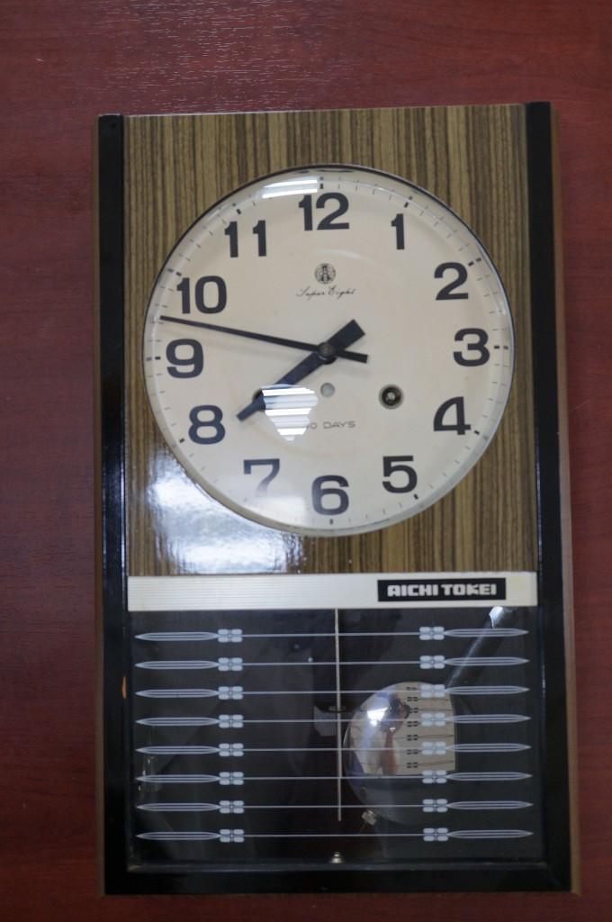 No.399  アンテイーク アイチ ゼンマイ式掛け時計を修理しました