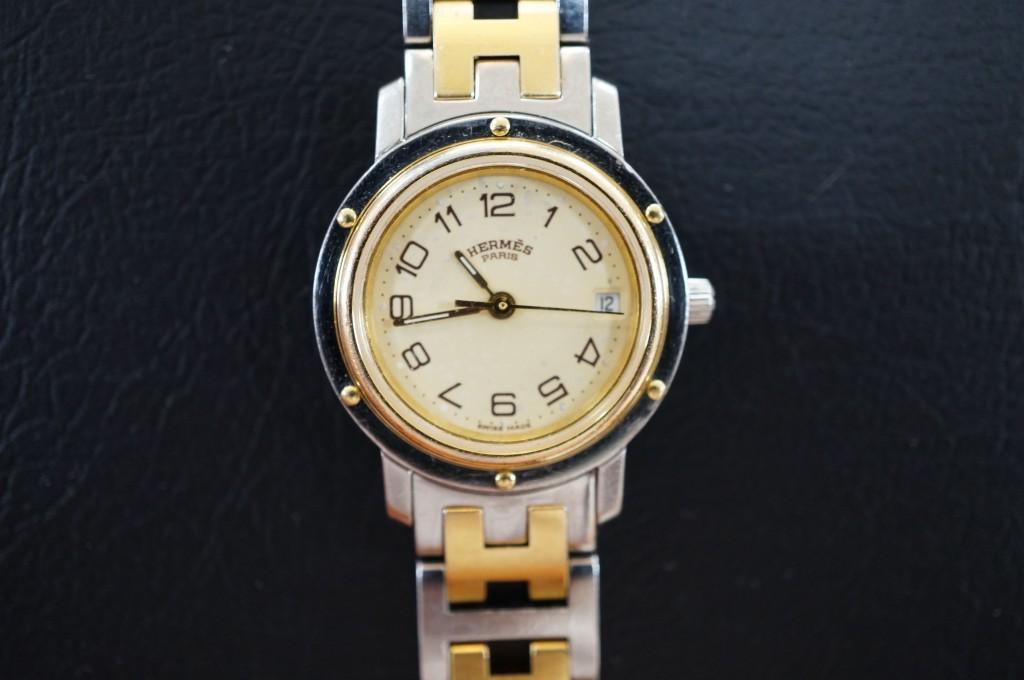 No.458  HERMES(エルメス)クォーツ腕時計を修理しました