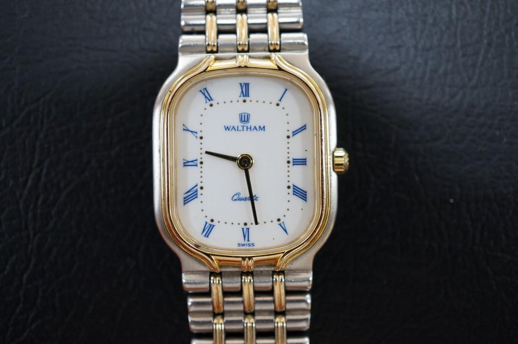 No.473  WALTHAM(ウォルサム)クォーツ腕時計を修理しました