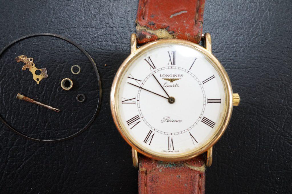No.530  LONGINES(ロンジン)クォーツ腕時計を修理しました