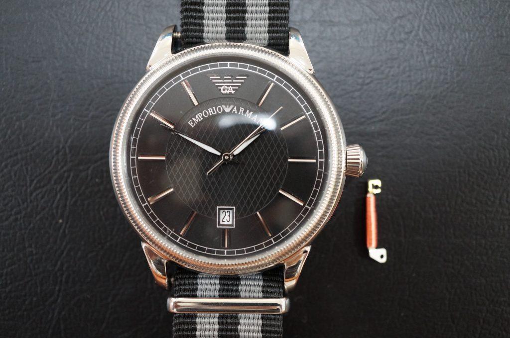 No.533  EMPORIO ARMANI (アルマーニ) クォーツ腕時計を修理しました