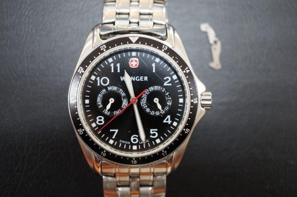 No.540  WENGER (ウインガー) クォーツ腕時計を修理しました
