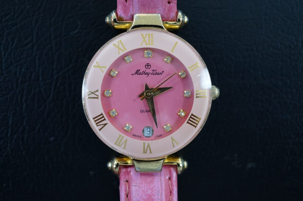 No.555  Mathey Tissot (ティソ) クォーツ腕時計を修理しました