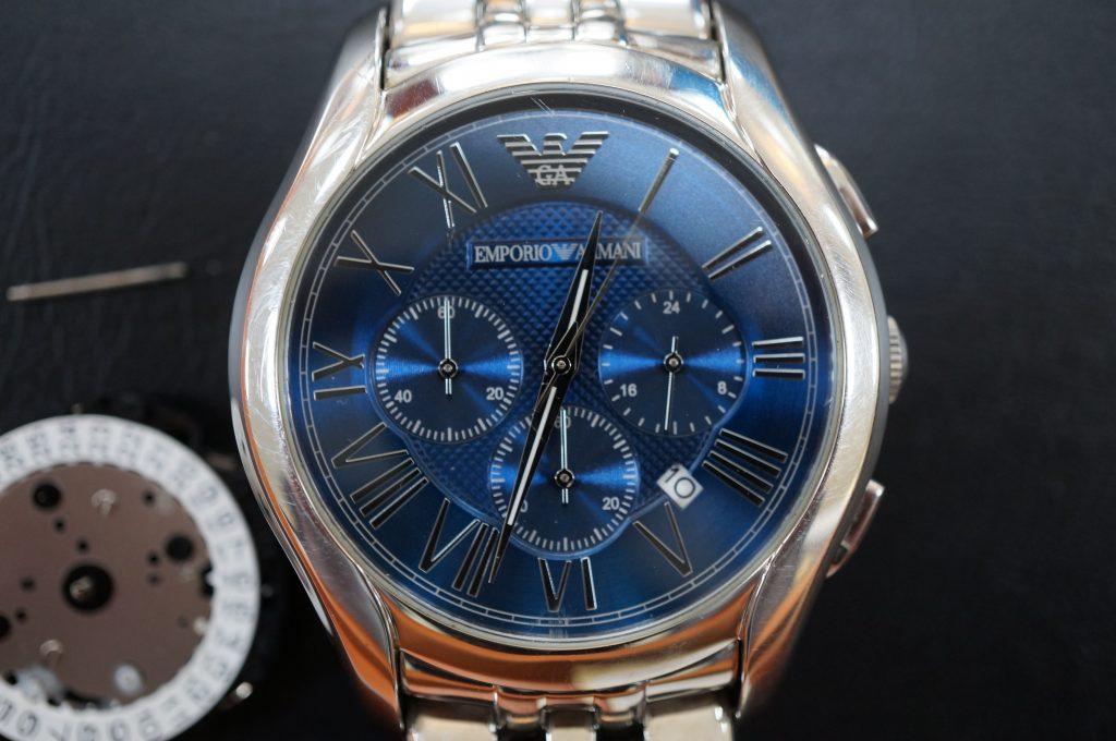 No.621   EMPORIO ALMANI(アルマーニ) クォーツ腕時計を修理しました
