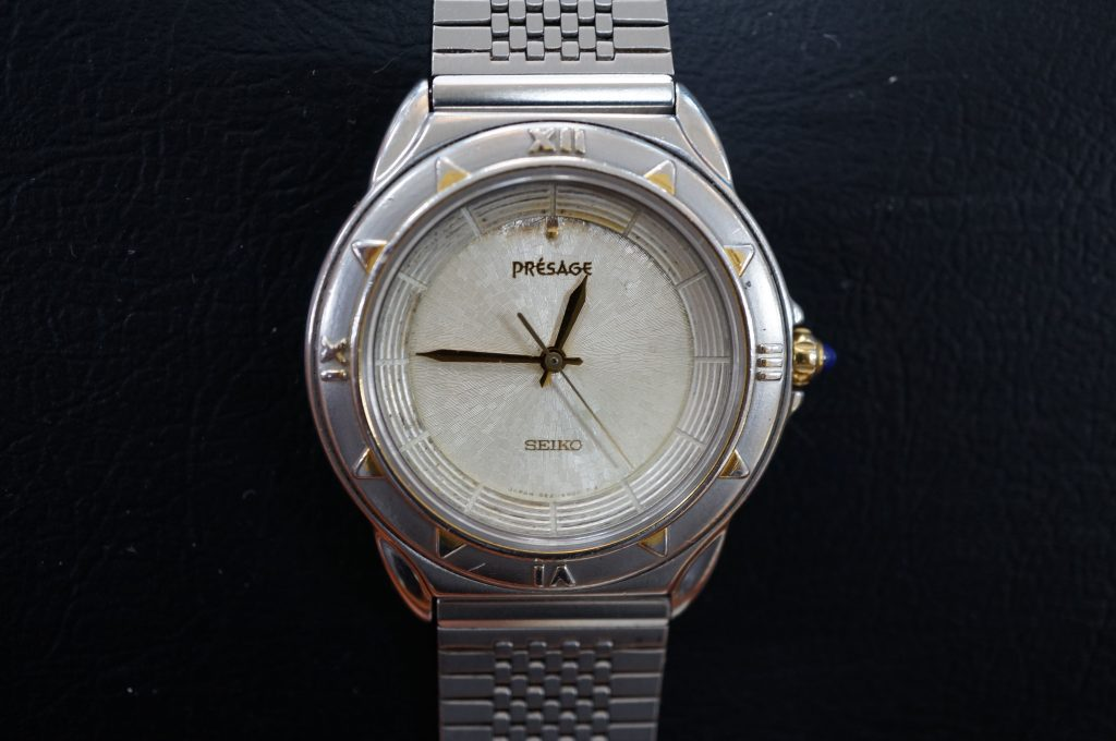 No.619   SEIKO PRESAGE(セイコー) クォーツ腕時計を修理しました