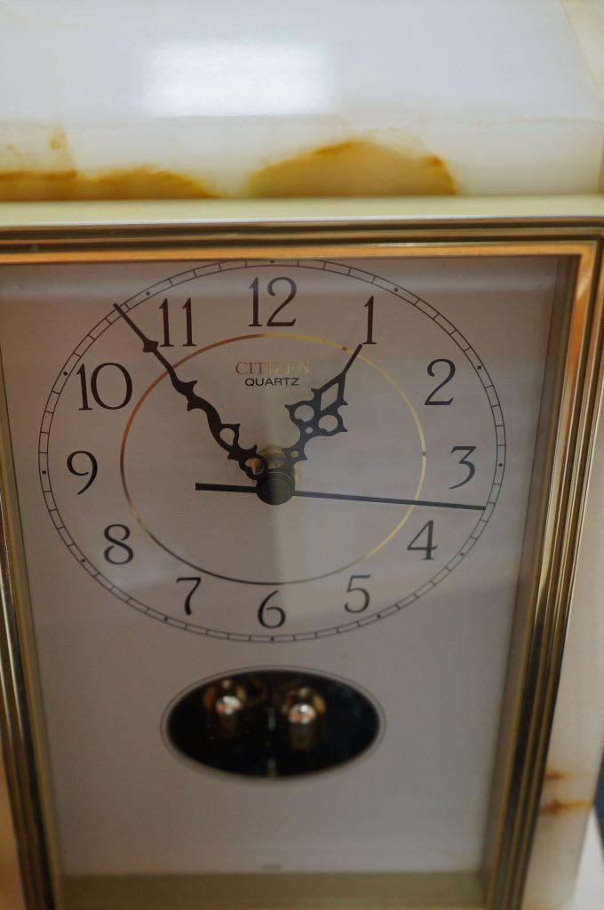 No.618  CITIZEN(シチズン) クォーツ置き時計を修理しました