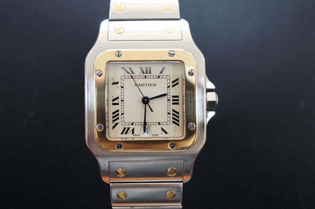 No.611  CARTER (カルティエ サントス) 自動巻き腕時計を修理しました