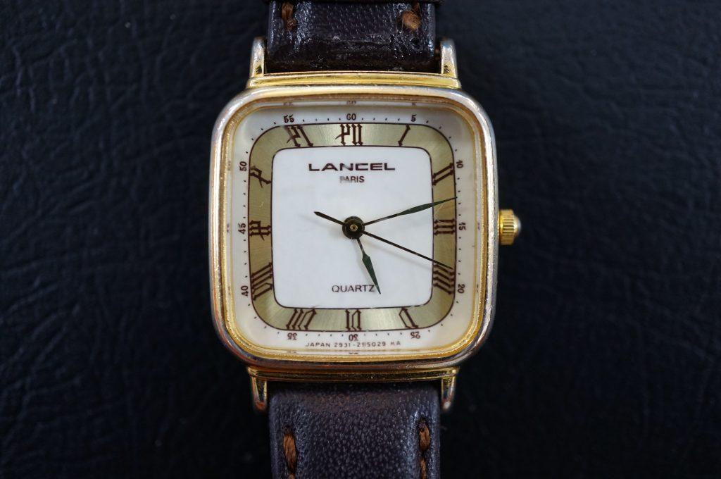 No.577   LANCEL(ランセル)  クォーツ腕時計を修理しました