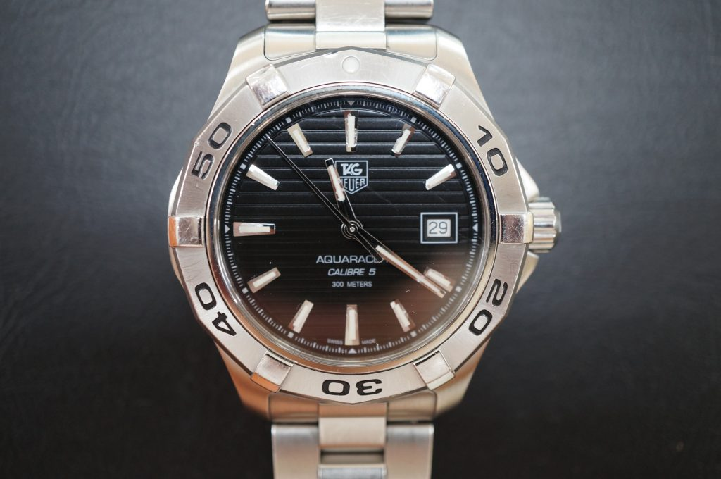 No.633  TAG HEUER AQUARACER (タグホイヤー) 自動巻き腕時計を修理しました