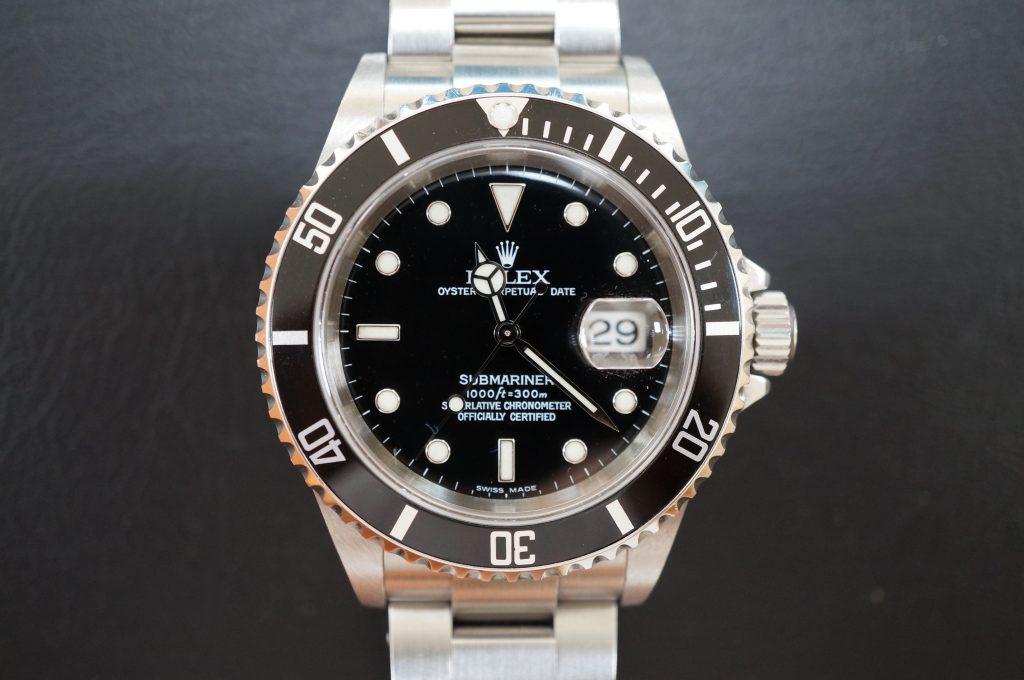 No.632  ROLEX (ロレックス サブマリーナ デイト) 自動巻き腕時計を修理しました