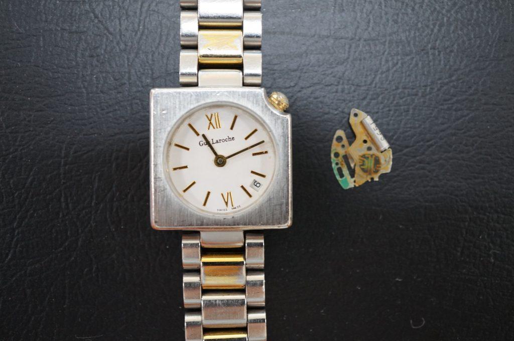 No.628   Guy Laroche  クォーツ腕時計を修理しました