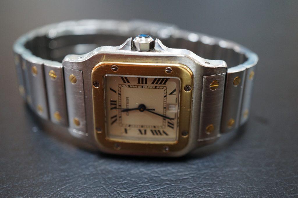 No.707  CARTER (カルティエ サントス) 自動巻き腕時計を修理しました