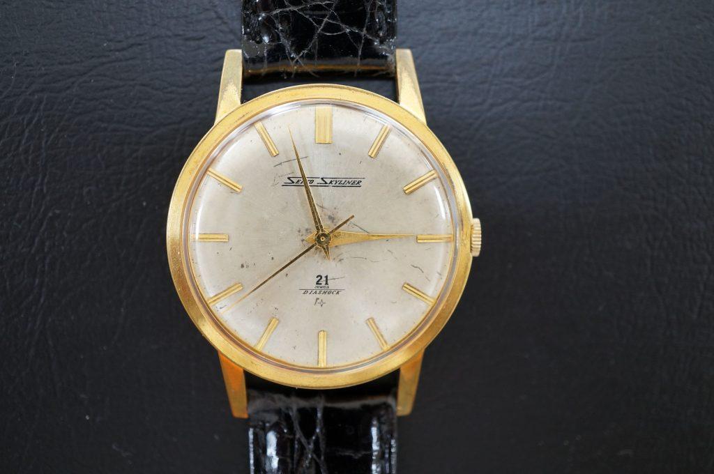 No.702   SEIKO (スカイライナー) 手巻き腕時計を修理しました