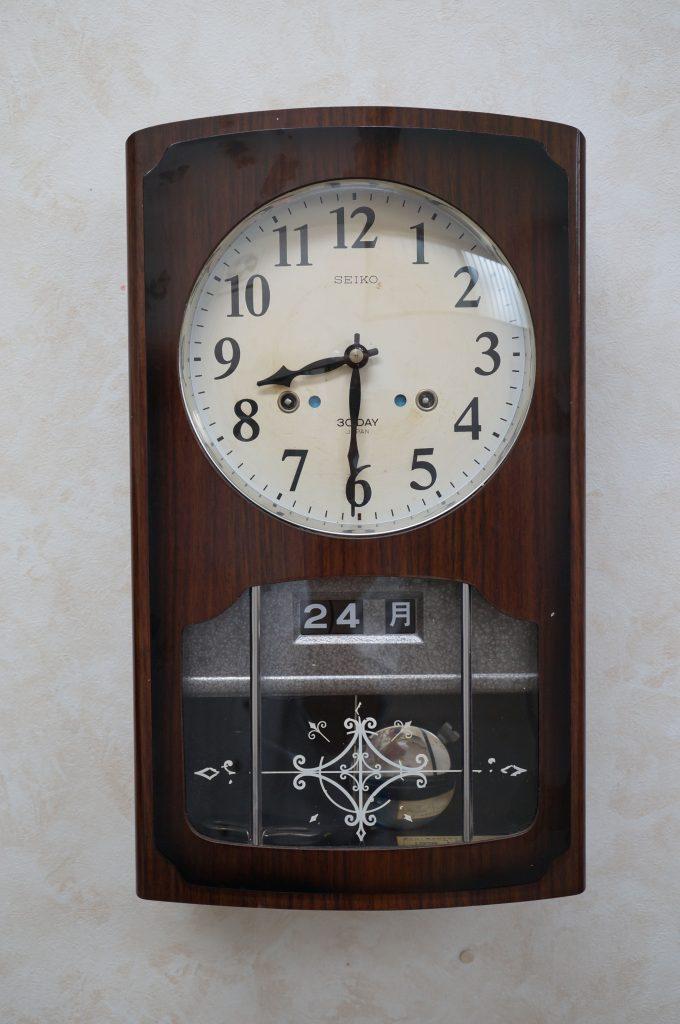 No.679   SEIKO (セイコー) ゼンマイ式掛け時計を修理しました