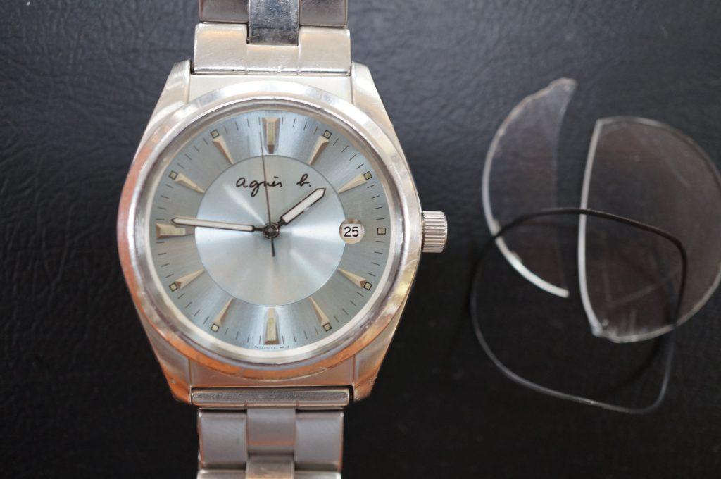 No.710   aqnes b. (アニエスベー) クォーツ腕時計を修理しました