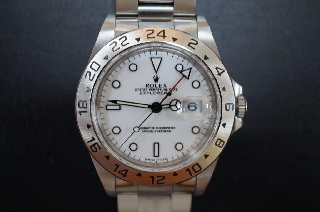 No.719  ROLEX (ロレックス エクスクローラ2) 自動巻き腕時計を修理しました