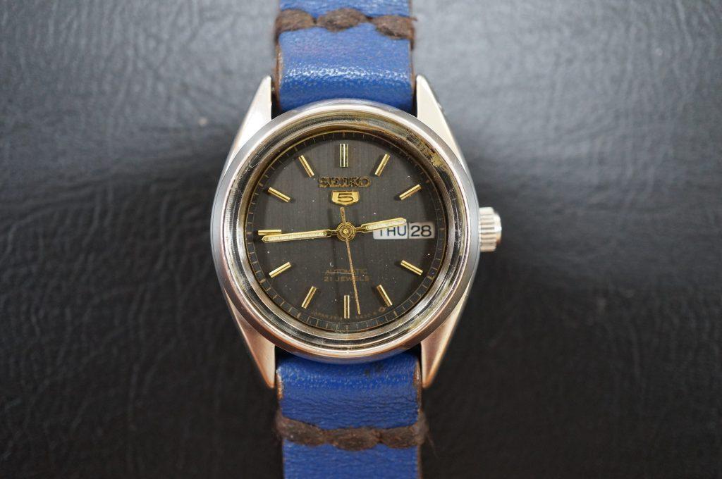 No.732  SEIKO 5  (セイコー) 手巻き腕時計を修理しました