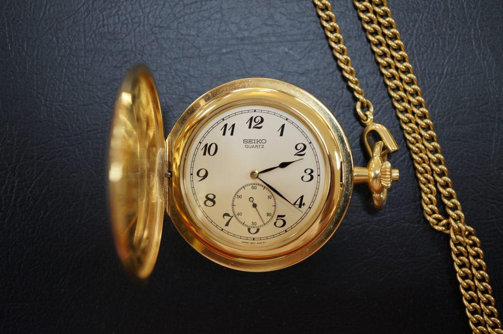 No.761  SEIKO   (セイコー) クォーツ懐中時計を修理しました