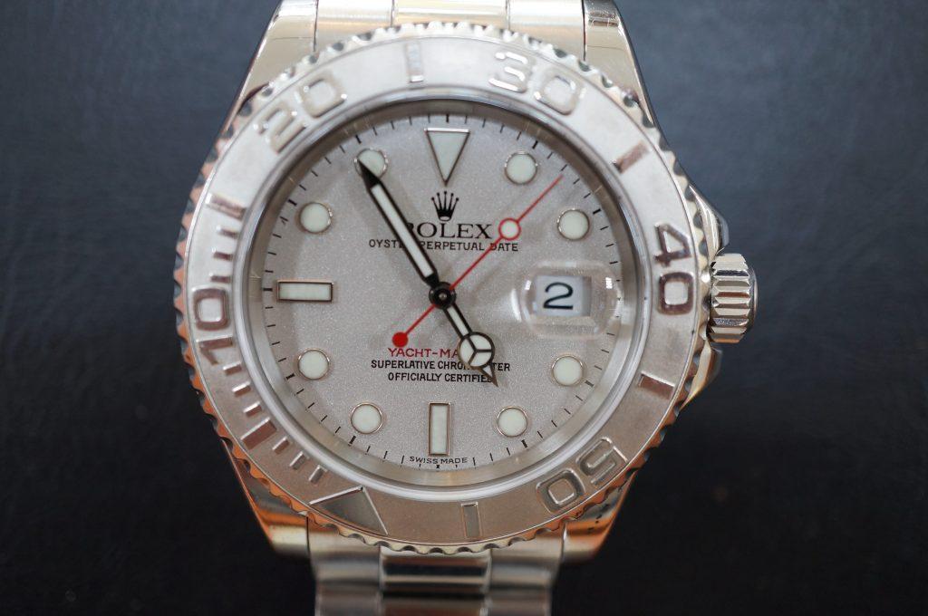 No.775  ROLEX (ロレックス ヨットマスターロレジウム) 自動巻き腕時計を修理しました