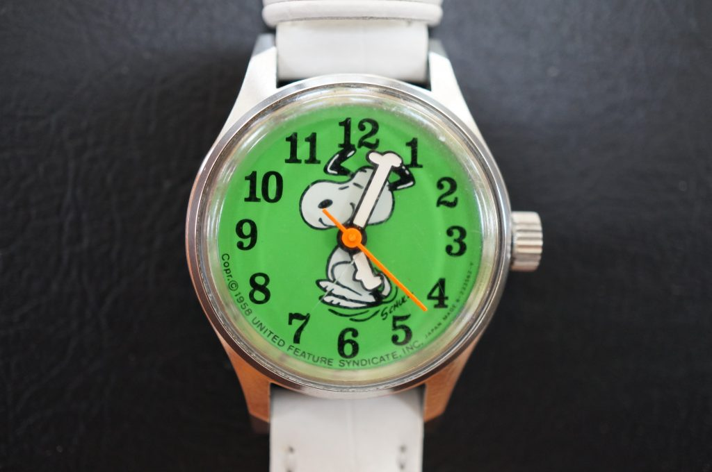 No.772  スヌーピー 手動巻き腕時計を修理しました