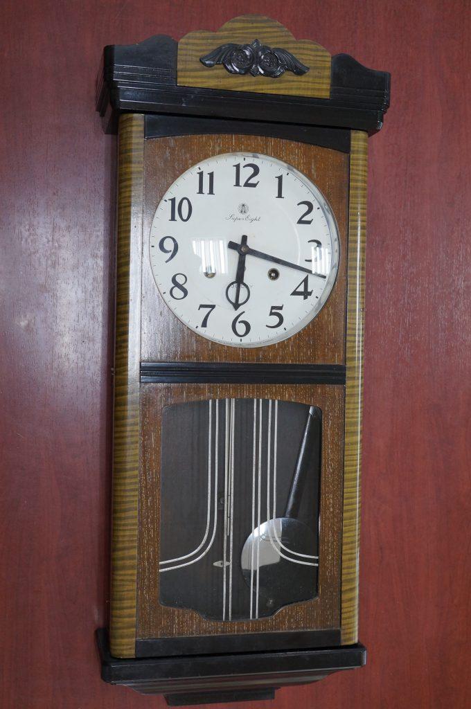 No.769  AIKOSHA(愛工舎)ゼンマイ式掛け時計を修理しました