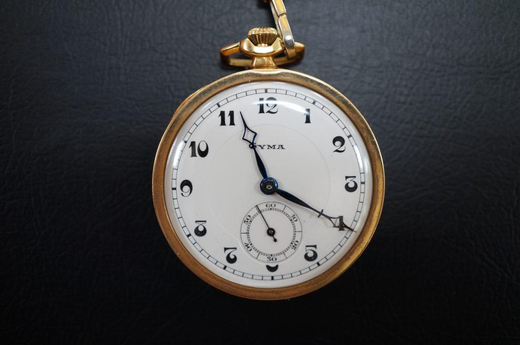 No.783  CYMA  ゼンマイ式懐中時計を修理しました