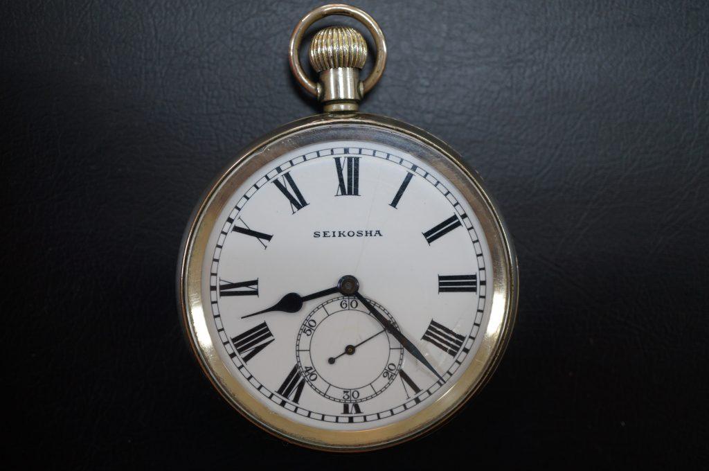 No.813  SEIKO  ゼンマイ式懐中時計を修理しました