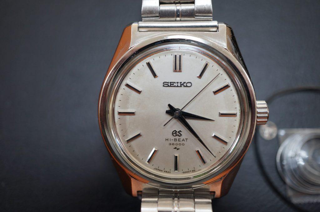 No.828  SEIKO GS  (グランドセイコー) 自動巻き腕時計を修理しました
