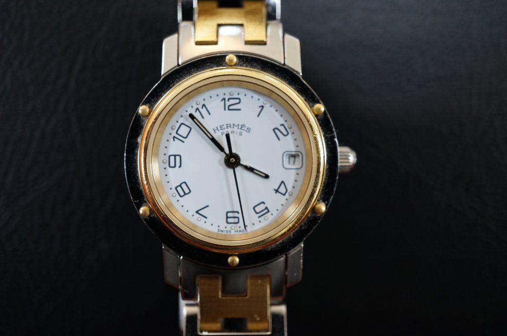 No.837  HERMES  (エルメス) クォーツ腕時計を修理しました