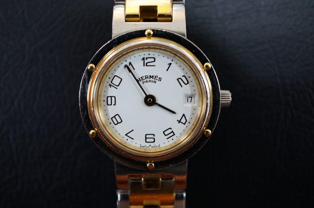 No.836  HERMES  (エルメス) クォーツ腕時計を修理しました