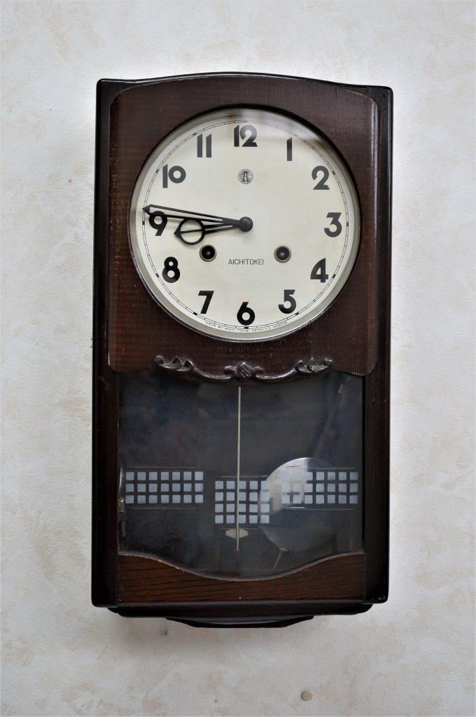 No.844  AIKOSHA(愛工舎)ゼンマイ式掛け時計を修理しました