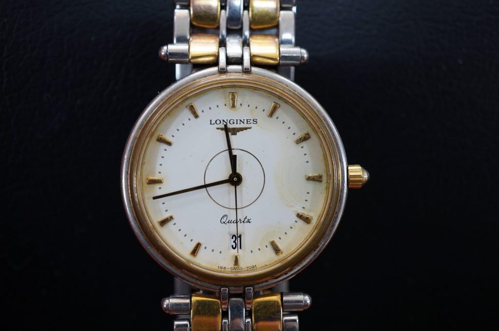 No.867  LONGINES (ロンジン) クォーツ腕時計を修理しました