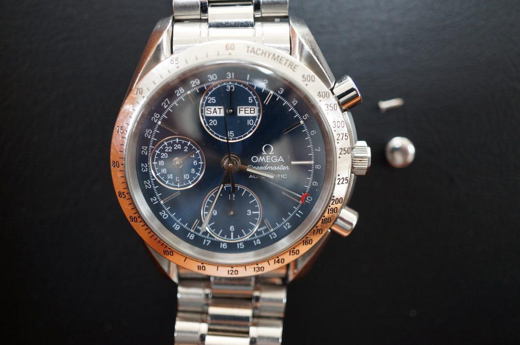 No.875  OMEGA Speedmaster (オメガスピードマスター) 自動巻き腕時計を修理しました
