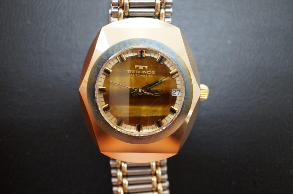 No.896  TECHNOS  (テクノス) 自動巻き腕時計を修理しました