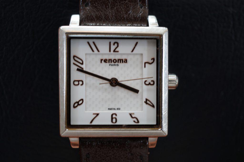 No.891  renoma  (レノマ) クォーツ腕時計を修理しました