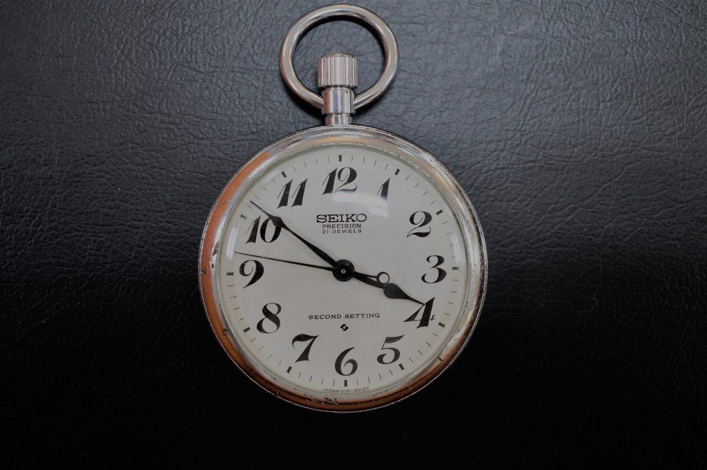 No.888  SEIKO  (セイコー) 手巻き懐中時計を修理しました