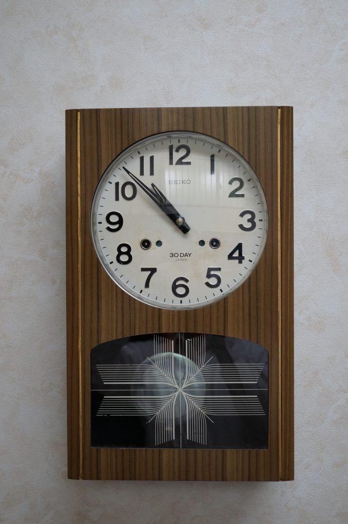 No.974  SEIKO(セイコー)ゼンマイ式 掛け時計を修理しました