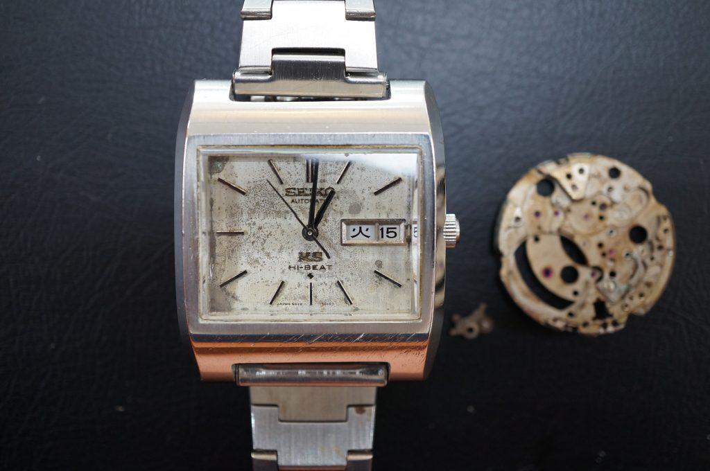 No.950  SEIKO KS (キングセイコー) クオーツ式腕時計を修理しました