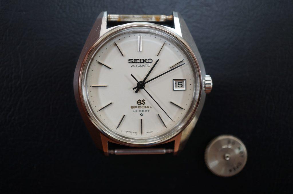 No.947  SEIKO GS (グランドセイコー) 自動巻き腕時計を修理しました
