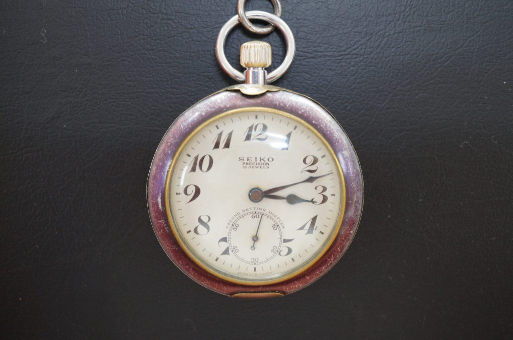 No.1009  SEIKO (セイコー)  ゼンマイ式 懐中時計を修理しました