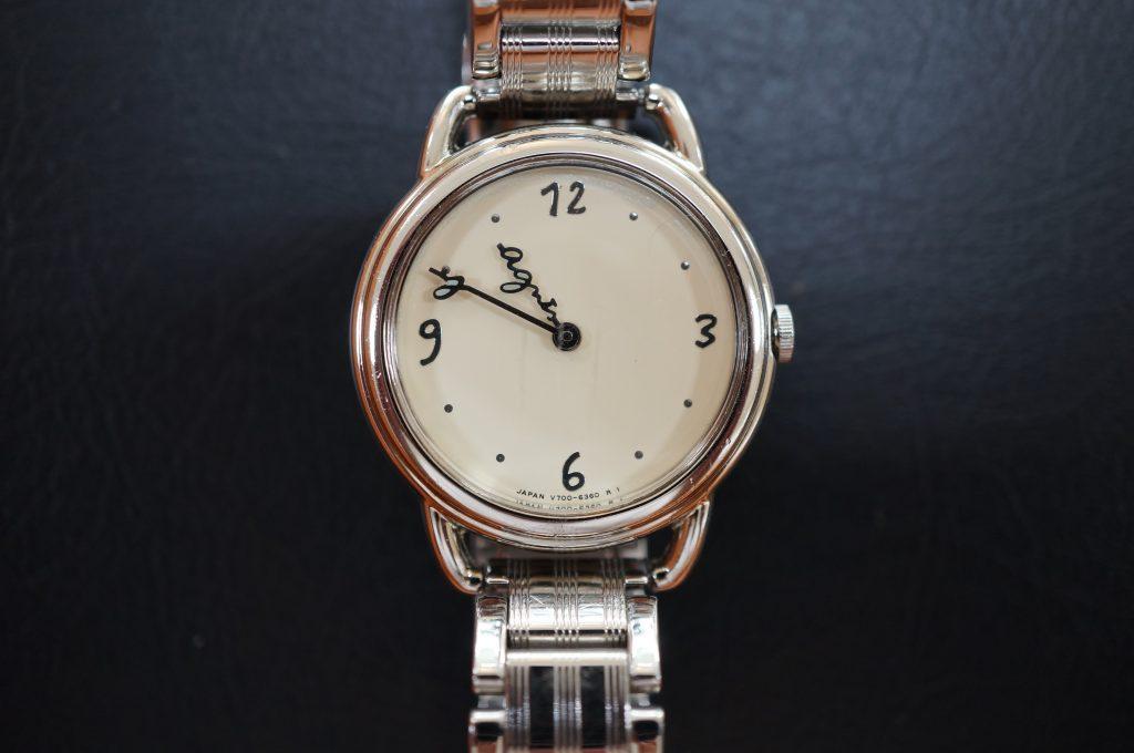 No.1000  アニエス ベー  クォーツ腕時計を修理しました
