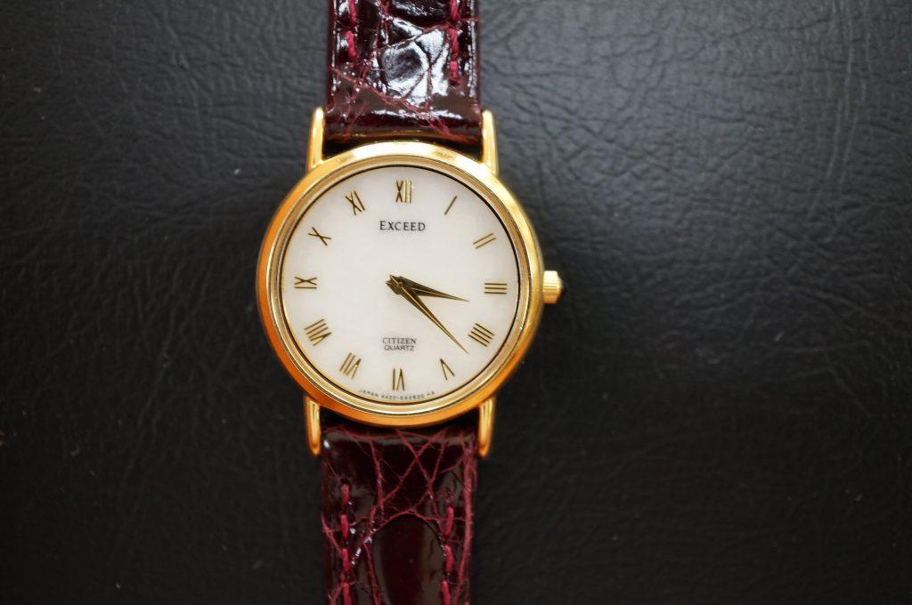 No.1041  CITIZEN EXCED (シチズン エクシード)  クオーツ式 腕時計を修理しました
