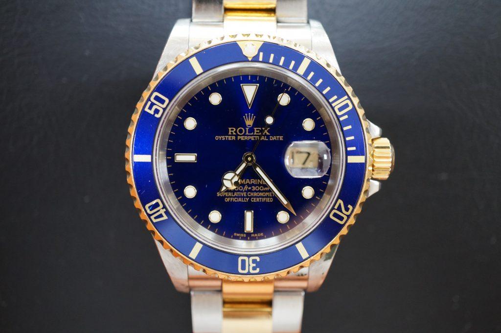 No.1044  ROLEX (ロレックス 青サブマリーナ ) 自動巻き腕時計を修理しました