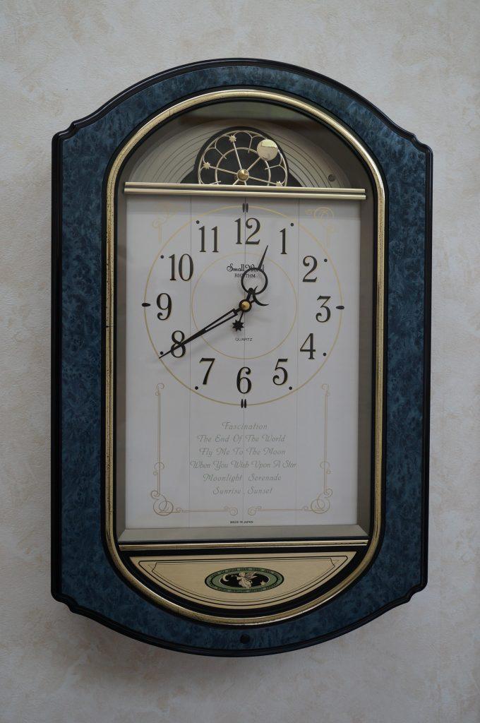 No.1068  リズム からくり クォーツ式 掛け時計を修理しました